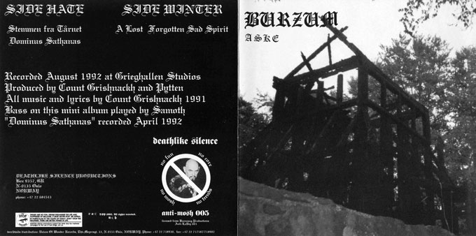 Burzum Aske (mini-LP)